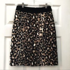 White House Black Market Leopard Pencil Skirt